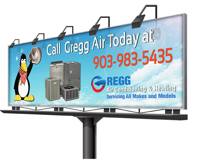 gregg air conditioning Gregg Air Conditioning Repair & Maintenance billboard displaymocku RGB